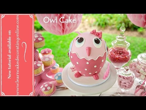 Make an Owl Cake with Learn Cake Decorating Online