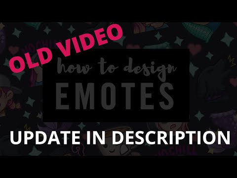 How to Design and EMOTES for TWITCH