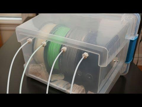 3D Printer Filament Dry Box // Becky Stern