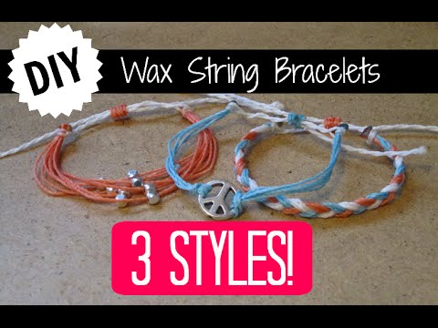 3 DIY Wax String Friendship Bracelets | Tutorial Inspired by Pura Vida Bracelets!