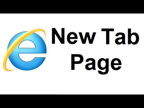 Customize Your New Tab Page In Internet Explorer