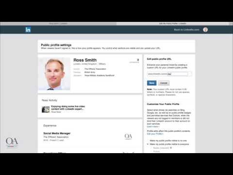 Your public profile - LinkedIn Quick Tips