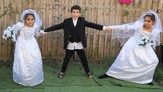 The Wedding of Sami pretend play funny kids videos,les boys tv