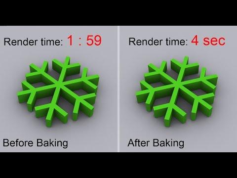 Speed up rendering times in 3dsmax by Baking - Simple tutorial