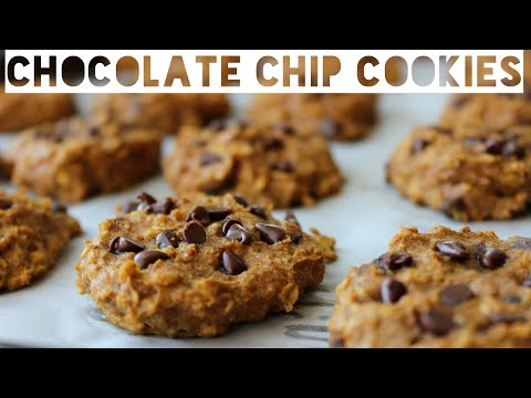 Healthy Chocolate Chip Cookies Recipe | How To Make Healthy Chocolate Chip Pumpkin Spice Cookies
