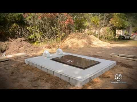 AK INDUSTRIES ULTIMATE STORM SHELTER INSTALLATION INSTRUCTION VIDEO