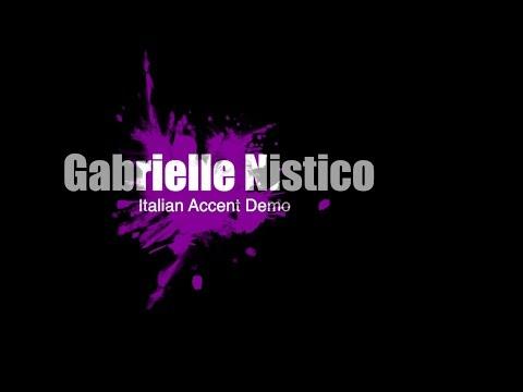 Italian Accents Demo - Gabrielle Nistico