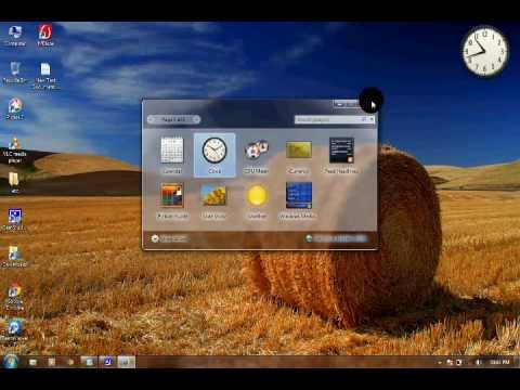 HOW TO SET CLOCK ON YOUR DESKTOP
