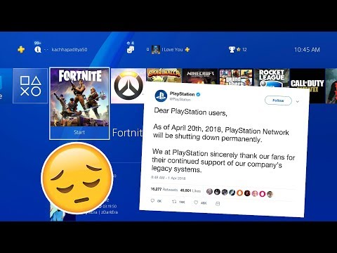 PSN Servers are Shutting Down... For Good