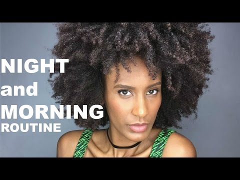 My (quick and simple) Night and Morning Hair Routine (Natural Afro/Kinky Hair)