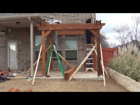How to Build a Pergola - Part 2 (Installation/Assembly)