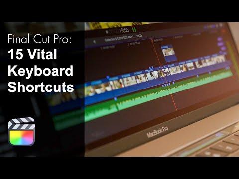 15 Essential Final Cut Pro X Keyboard Shortcuts