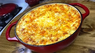The Ultimate Five Cheese Macaroni And Cheese Lodge Enameled Cast Iron
