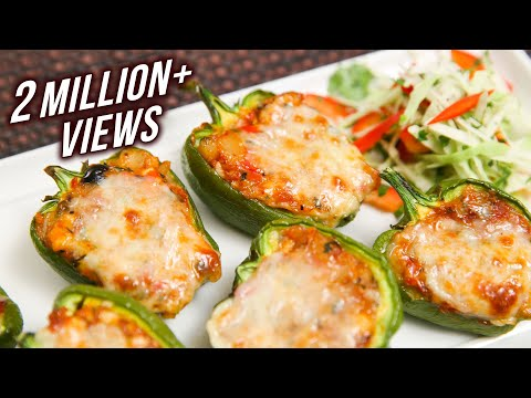 Stuffed Capsicum - Easy To Make Homemade Starter / Party Appetizer Recipe By Ruchi Bharani
