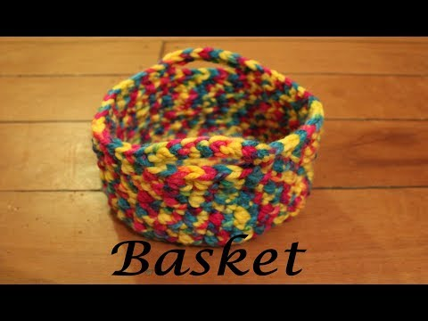 Crocheted Basket with Handles