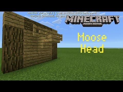 ✔MCPE: How to make a moose head