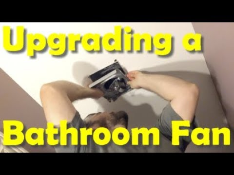 How To Upgrade a NuTone Bathroom Fan