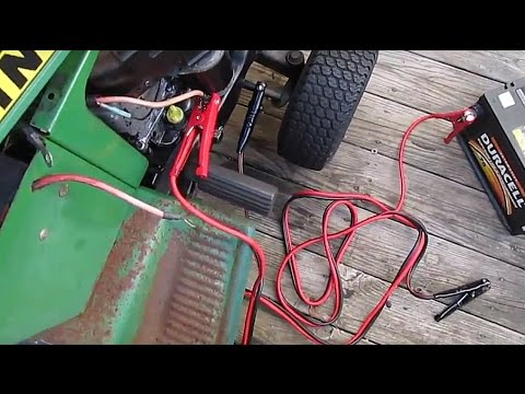 Quickest Fastest Way to Start Your Riding Lawn Mower - Jump By-Pass Everything :D