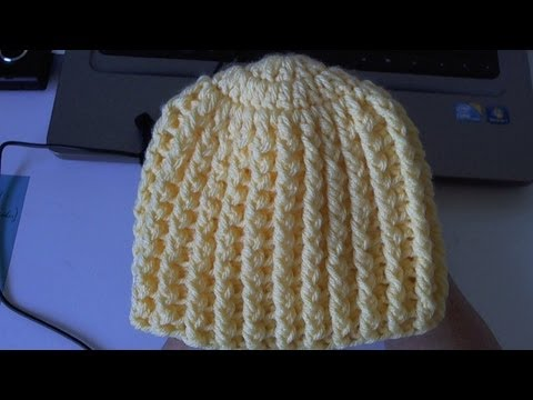 How to crochet Easy Ribbed Beanie / Hat Style 1