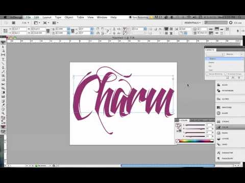 3D Typography Effect in InDesign