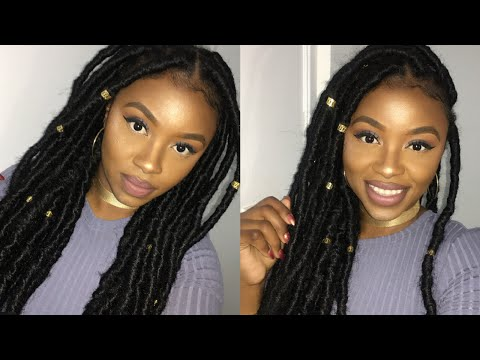 Easiest Way to do Faux Locs | Protective Style on my Natural Hair | StarringAshleyA