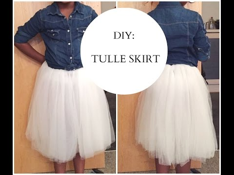 DIY: HOW TO SEW TULLE SKIRT (EASY SEWING)