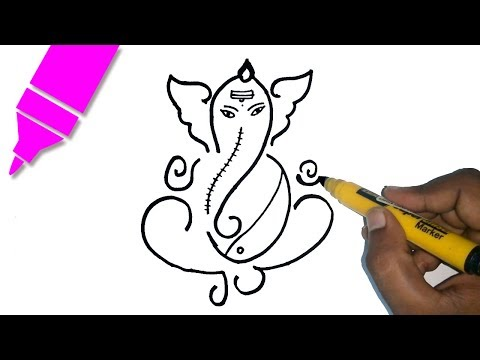Learn how to draw Ganesha Drawing - Free Hand Drawing for kids | Ganesh Chaturthi Special