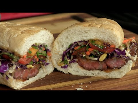 Thai Inspired Beef Short Rib Sandwich! (Video Recipe)