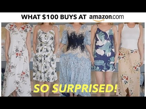 WHAT $100 BUYS YOU AT AMAZON | CLOTHING HAUL & TRY ON | skip2mylou