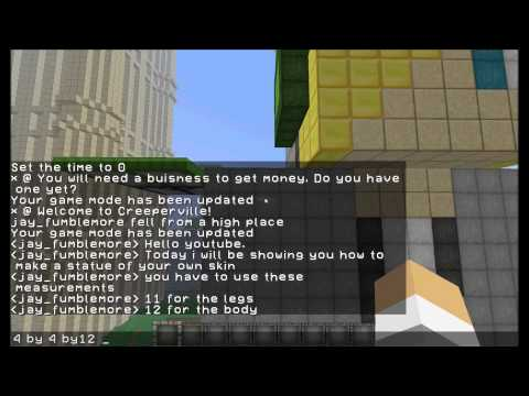 Minecraft How to Build a Statue of Your Skin