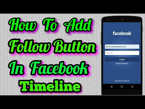 How to add follow me button on Facebook profile In Mobile