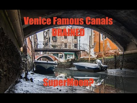 Water anomalies appear in Venice and Mexico - Water disappears!