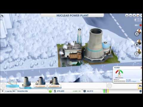 Simcity - Nuclear power plant leaks radiation
