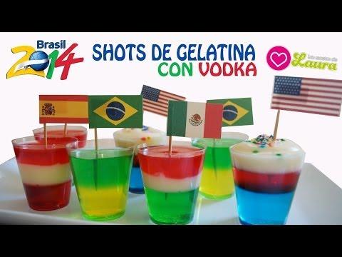 Gelatina con Vodka ♥ Botanas para el Mundial ¿Cómo hacer Jelly Shots?