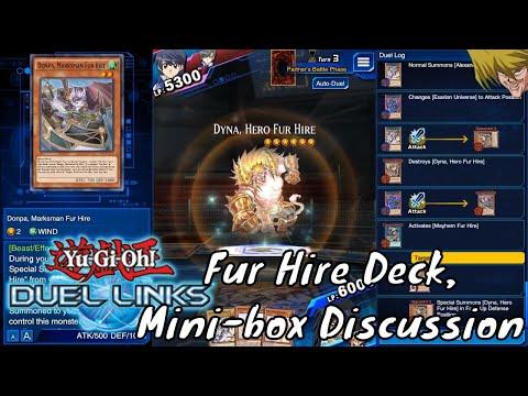 Yugioh Duel Links Season 2 Ep. 8 - Fur Hire Deck, Mini-box Discussion