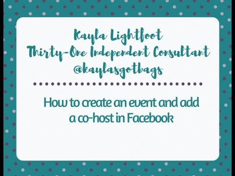 How to create an event and add a co-host on Facebook