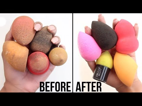 The BEST Way To Clean Your Beauty Blender! BeautyBlender Hack  | BiancaReneeToday