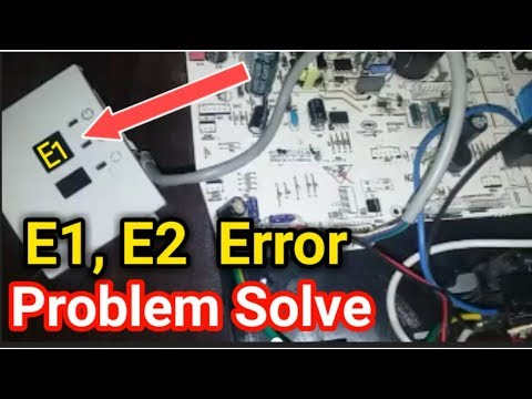 E1, E2 error problem easy solve haier ac in Urdu/Hindi   Fully4world