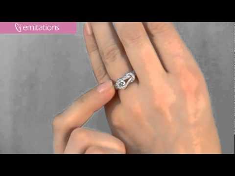 Rebecca's CZ Love Knot Ring