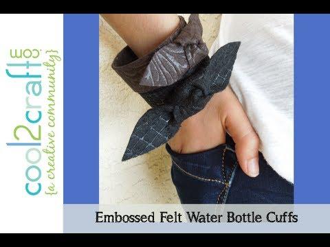 Aleene's Embossed Felt Water Bottle Cuff Bracelets
