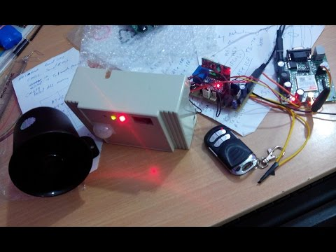 GSM Based Security Alarm System using Arduino and 433Mhz Remote (V2 0)