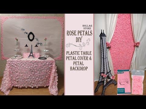 Pink Theme Party Idea / Table Cover & Backdrop DIYs / Paris Theme