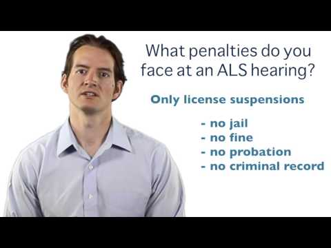 What are the penalties at an ALS Hearing