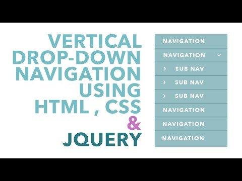 Vertical Drop-Down Navigation using jQuery