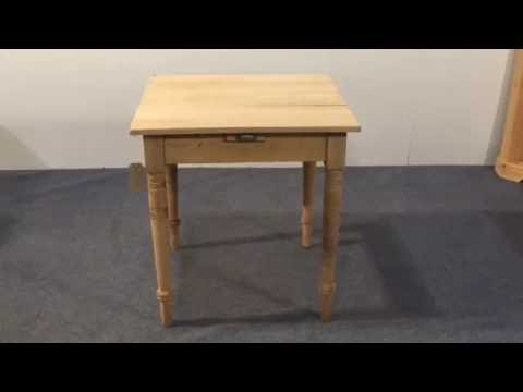 Small square gaming table - Pinefinders Old Pine Furniture Warehouse