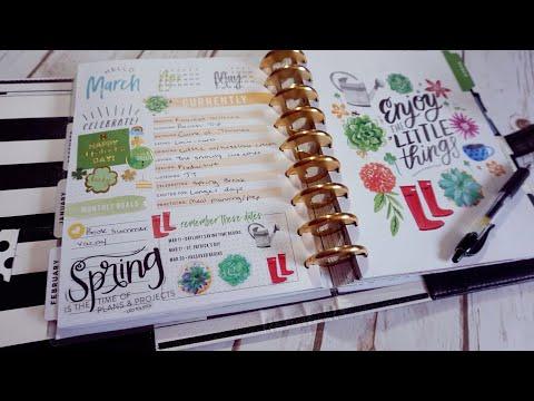 MARCH 2018 HAPPY PLANNER FLIP THROUGH | HAPPY PLANNER WEEKLY SPREADS | PEEK IN MY PLANNER