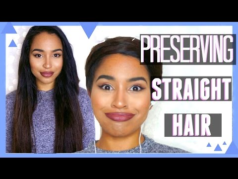 How to Keep Hair Straight for Longer - Wrapping Method | Lana Summer