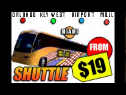 Shuttle Services from Miami to Key West, Orlando, Key Largo, Dolphin Mall, Sawgrass Mall and other