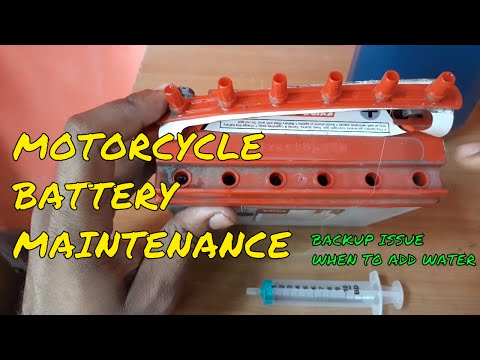 How to add water to your Motorcycle  battery.