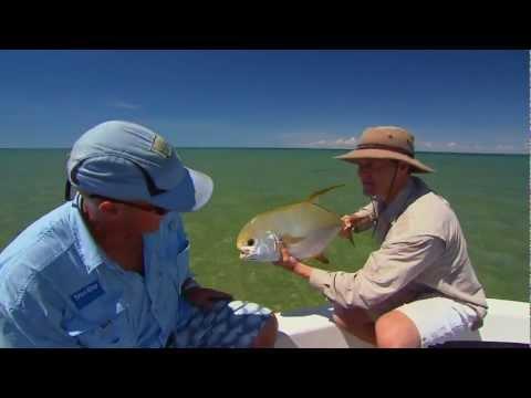 Fly fishing Permit Fishing Australia 2011 .mov